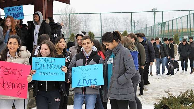 AISB's March For Our Lives Gets International Attention