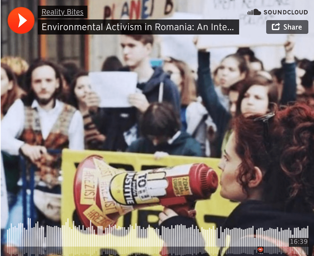 Environmental Activism in Romania: A Podcast Interview with Mădă Scarlat