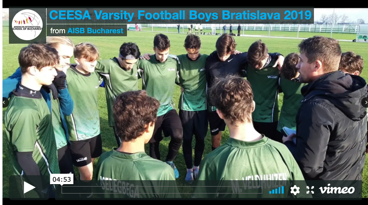 WATCH: Vlog Coverage from Varsity Boys' Football Trip to Bratislava