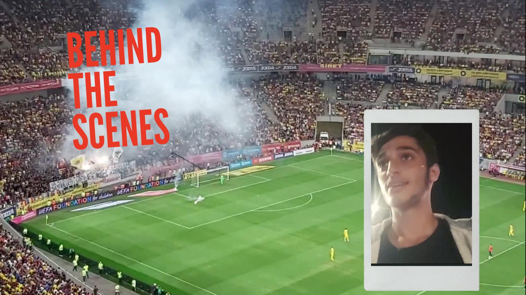WATCH: Bite Reporter Yoav Vlogs from UEFA Qualifying Match Romania vs. Spain
