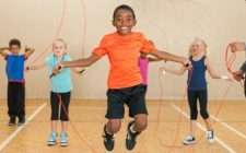 Diverse Elementary Gym Class