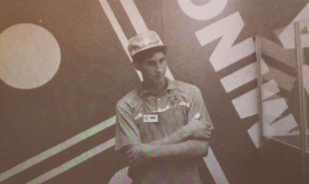 Matt de la Peña modelling the Domino's uniform